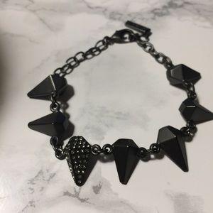 Jewelmint Gun Metal Goose bracelet